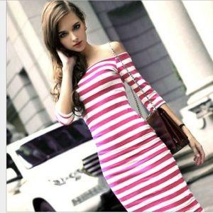 Dresses & Skirts - Striped Maxi Dress Strapless Sundress